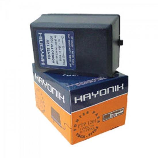 Fonte FTP1201E Parede 12VDC 1A Estabilizada HAYONIK