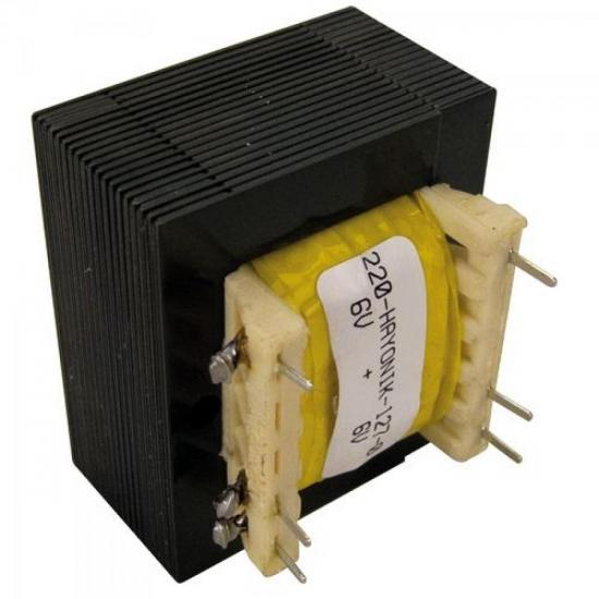 Transformador 6/800 6+6VAC 127/220VAC 600mA HAYONIK