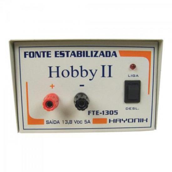 Fonte FTE1305 HOBBY II 13,8VDC 5AMP HAYONIK