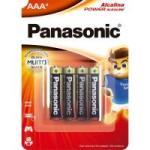 Pilha Alcalina AAA LR03XAB/4B1 Panasonic Caixa c/192 pilhas (cartela c/4)