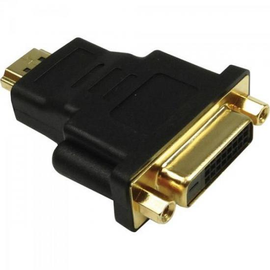 Adaptador DVI Fêmea x HDMI Macho Gold ST-HDMI-DMF GENÉRICO