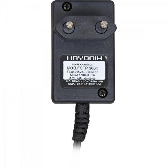 Fonte FCTP 6001 6VDC 1A P8 C+ Chaveada HAYONIK
