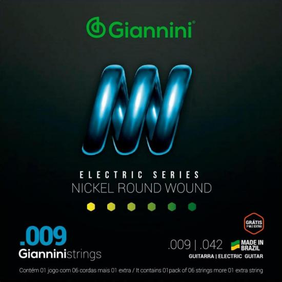 Encordoamento Para Guitarra GEEGST9 Super Leve 0.09 GIANNINI