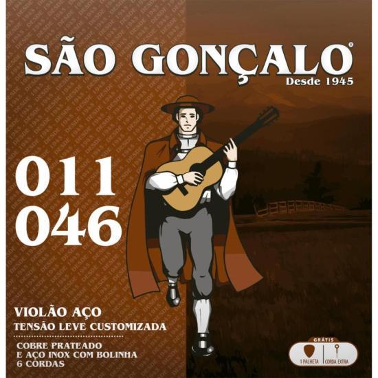 Encordoamento para Violão Folk em Aço SÃO GONÇALO