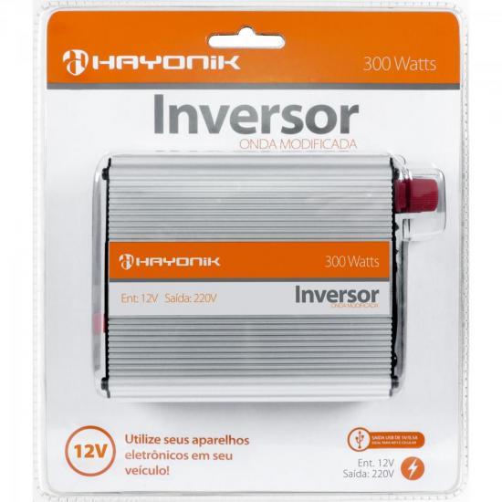 Inversor de Onda Modificada 12VDC/220V USB 300W HAYONIK