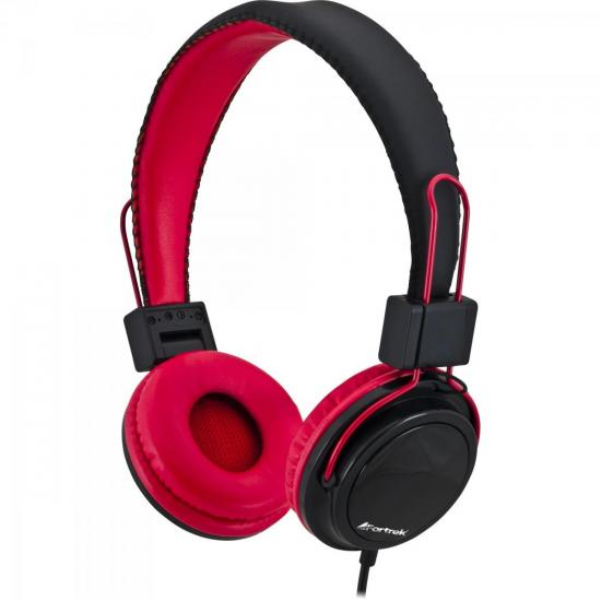 Fone de Ouvido com Microfone para Celular HS-313 Preto/Vermelho FORTREK