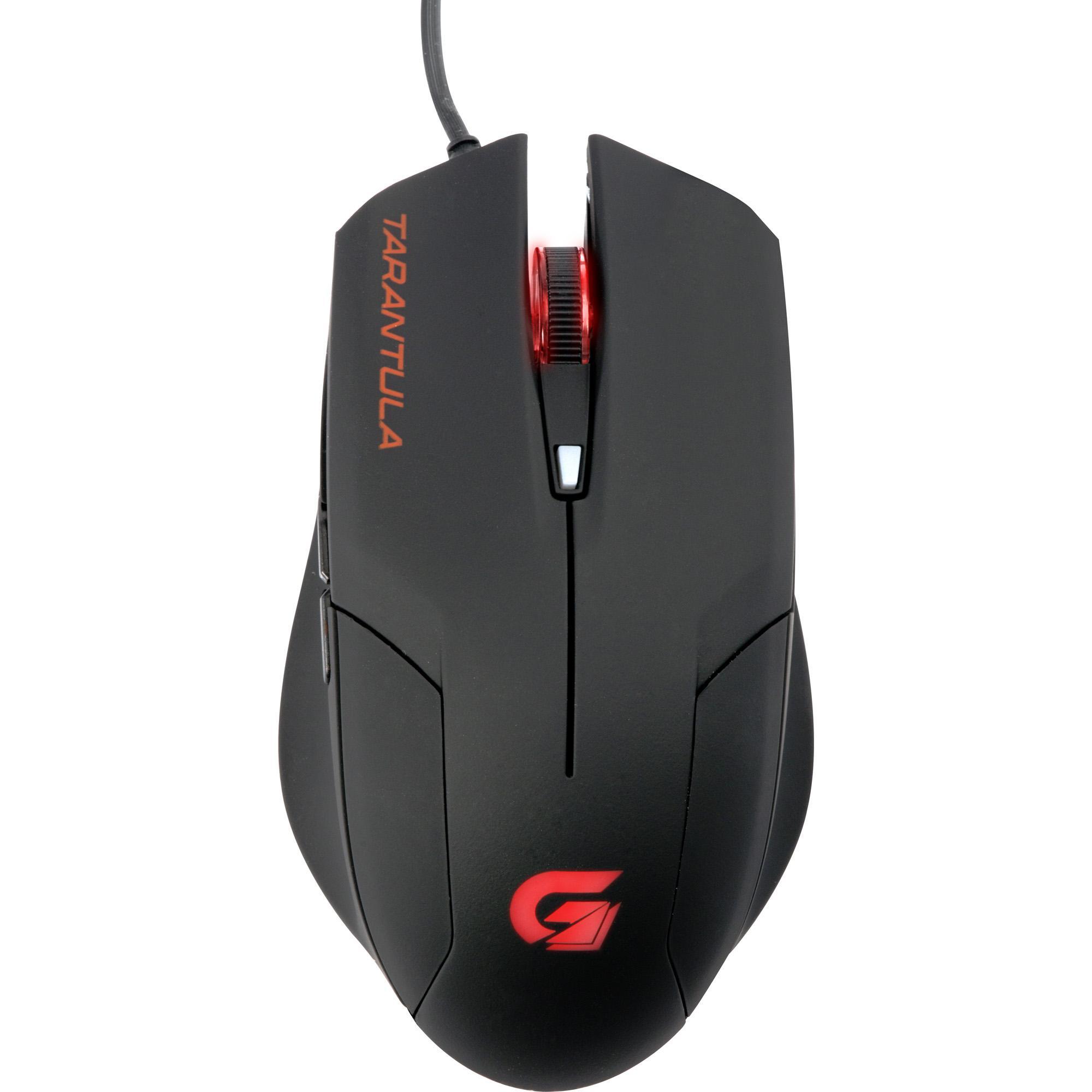 mouse-gamer-optico-spider-tarantula-om702-preto-vermelho-fortrek
