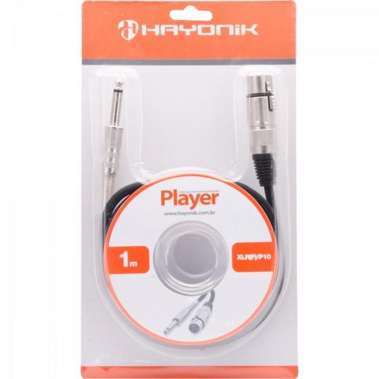 Cabo para Microfone XLR(F) X P10 1m PLAYER Preto HAYONIK