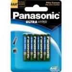 Pilha Zinco AAA R03UAL/4B400 Panasonic cartela c/4 pilhas