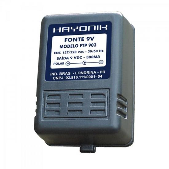 Fonte FTP-903 C- 9VDC 300mA HAYONIK