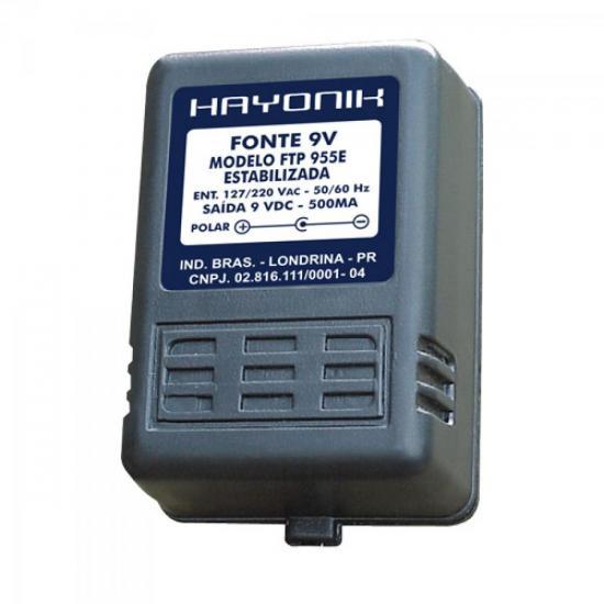Fonte FTP955E 9VDC 500mA Estabilizada P4 HAYONIK
