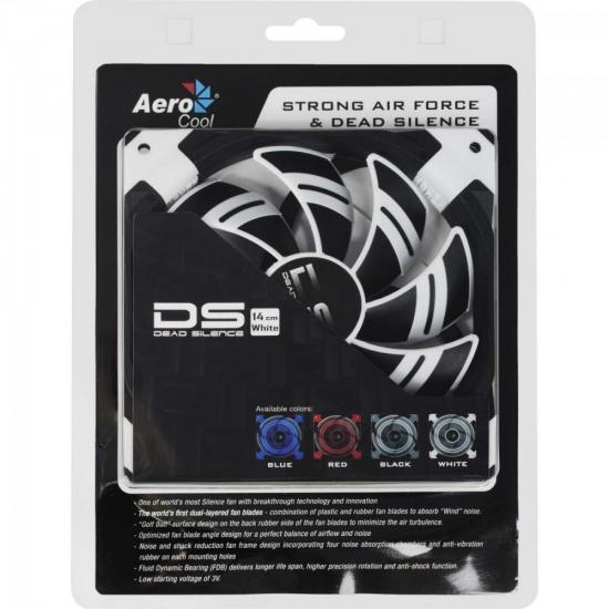 Cooler Fan DS EN51639 14cm Branco AEROCOOL