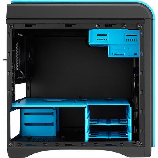 Gabinete Gamer DS CUBE EN52537 Azul e Preto AEROCOOL