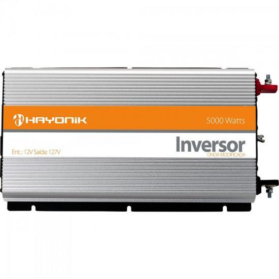 Inversor de Onda Modificada 12VDC/127V USB 5000W HAYONIK