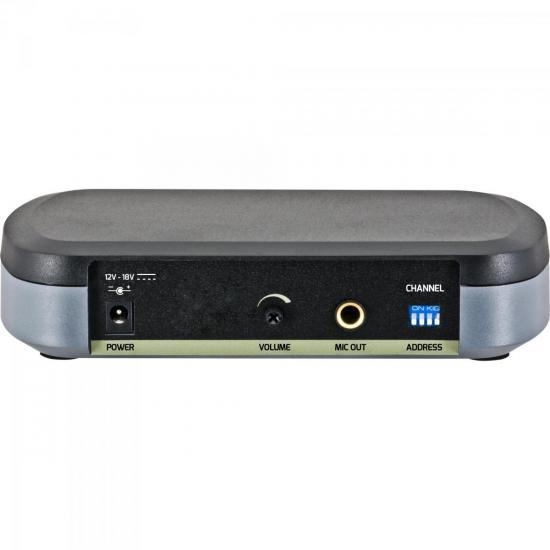 Microfone sem Fio UHF WPM-301 Preto HARMONICS