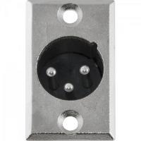 Conector XLR Macho Painel 3 Pólos Niquelado HX039M HYX