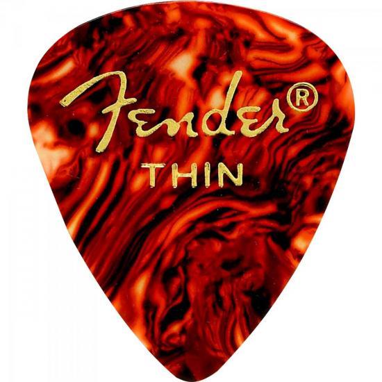 Palheta Celulóide Shape Classic 351 Thin Tortoise Shell FENDER