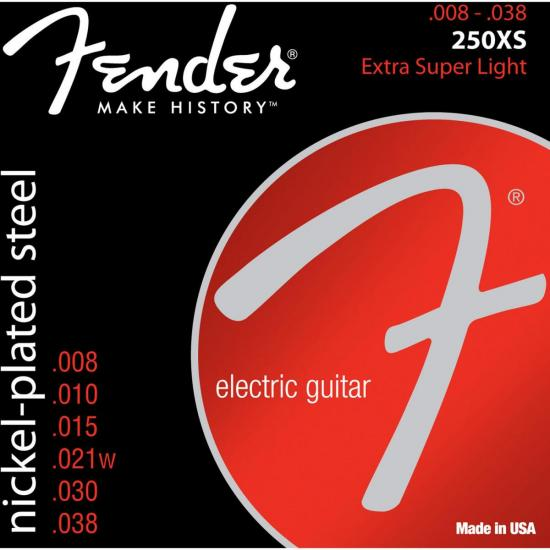 Encordoamento para Guitarra Aço 0.008 250XS Niquelado FENDER
