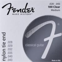 Encordoamento para Violão Nylon .028 100 CLEAR Prata Pura FENDER