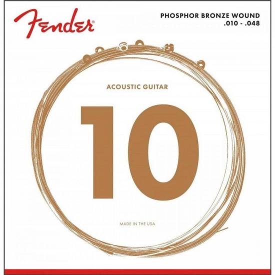 Encordoamento para Violão Aço .010 60XL Bronze Fosforoso FENDER
