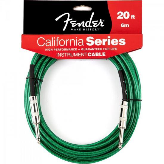 Cabo para Instrumentos P10 x P10 6m CALIFORNIA SERIES Verde FENDER