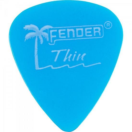 Palheta CALIFORNIA CLEAR FINA Azul FENDER
