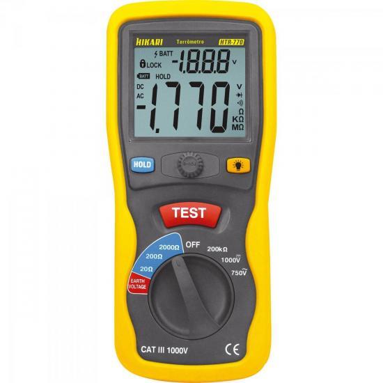 Terrômetro Digital Portátil HTR-770 Amarelo/Cinza HIKARI
