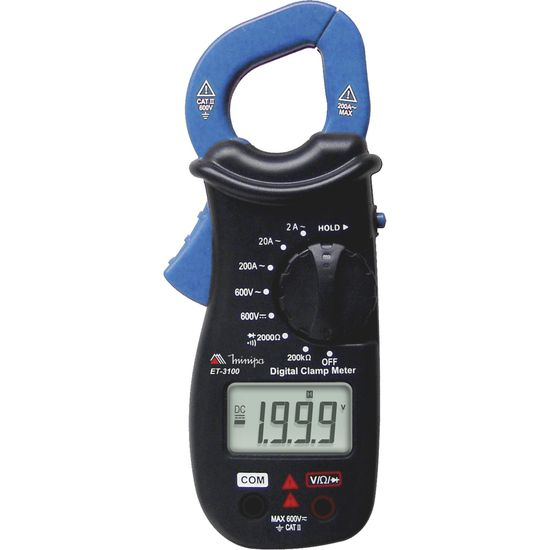 Alicate Amperímetro Digital ET-3100 Azul/Preto MINIPA