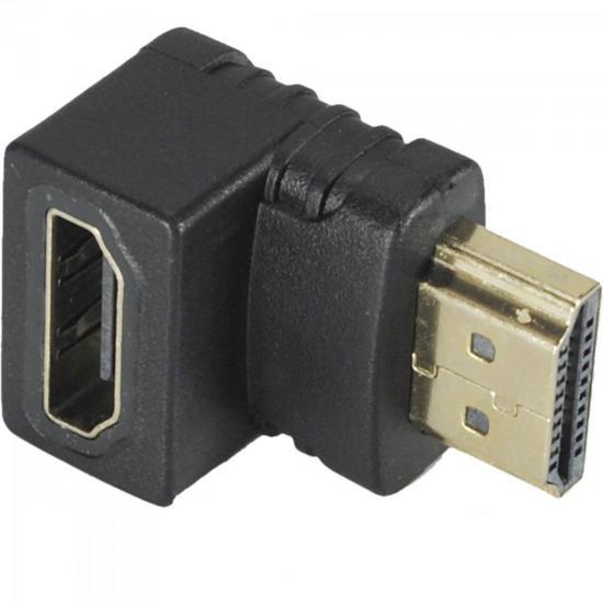 Adaptador HDMI M x HDMI F 90º XCAPPHDMI Preto X-CELL