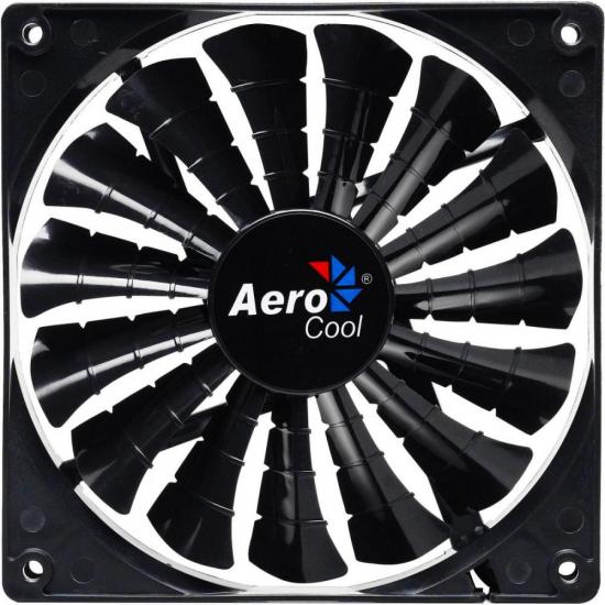 Cooler Fan 12cm SHARK BLACK EDITION LED EN55413 Preto AEROCOOL