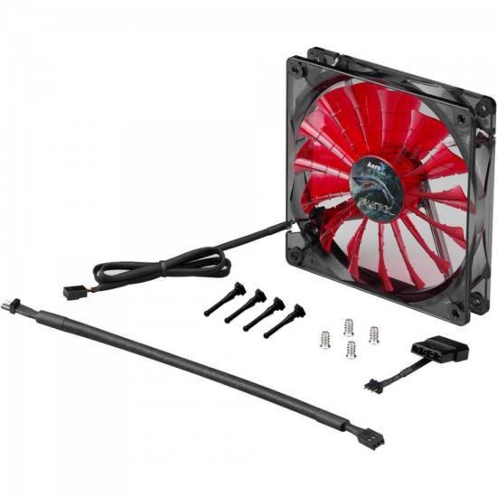 Cooler Fan 12cm SHARK DEVIL RED EDITION LED EN55437 Vermelho AEROCOOL