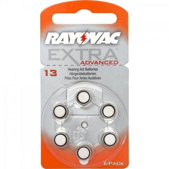 Pilha Auditiva 13 1,4V Extra Advanced Rayovac cartela c/6 pilhas