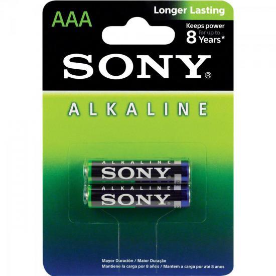 Pilha Alcalina AAA AM4L-B2D Sony Caixa c/24 pilhas (cartela c/2)