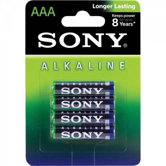 Pilha Alcalina AAA AM4L-B4D Sony Caixa c/48 pilhas (cartela c/4)