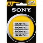 Pilha Zinco Carbono AAA ULTRA HEAVY DUTY R03-NUB4A SONY