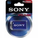 Bateria Alcalina 9V Stamina Plus Sony Caixa c/ 12 pilhas (cartela c/1)