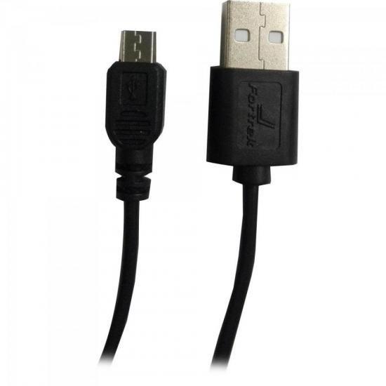 Cabo de Dados Micro USB 1,2m UMI-102/1.2BK Preto FORTREK
