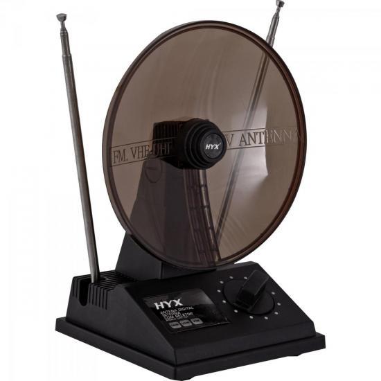 Antena Digital HDTV/UHF/VHF/FM Interna UVFI-101 Preta HYX