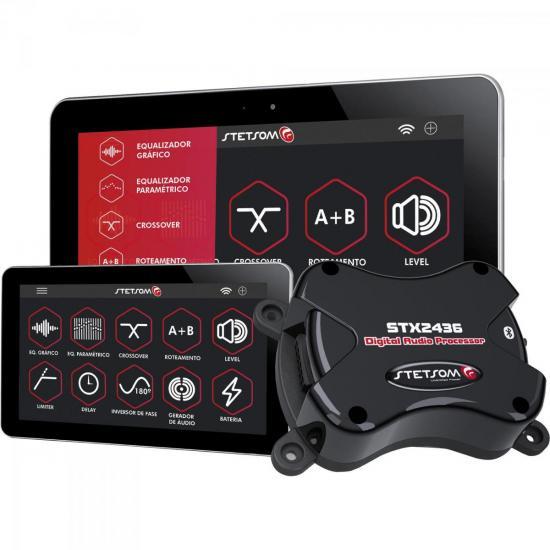 Processador de Áudio Bluetooth com 2 Entradas 4 Saídas STX2436BT STETSOM