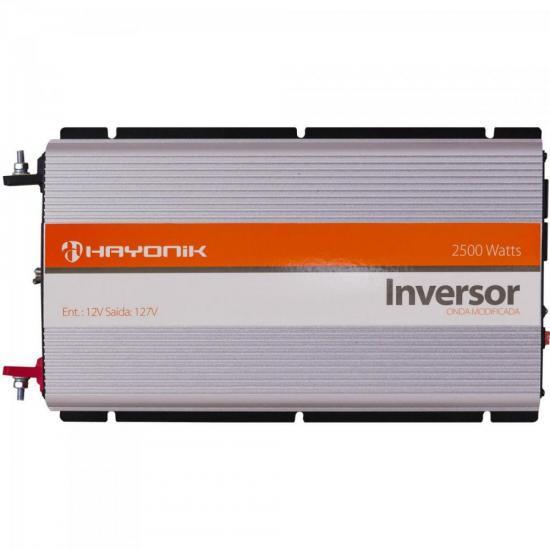 Inversor de Onda Modificada 12VDC/127V USB 2500W HAYONIK