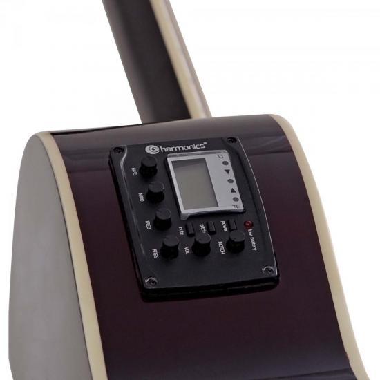 Violão Clássico Eletroacústico Cutaway Aço GE-21 Natural HARMONICS
