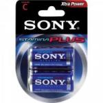 Pilha Alcalina C Stamina Plus AM2-B2D Sony Caixa c/24 pilhas (cartela c/2)