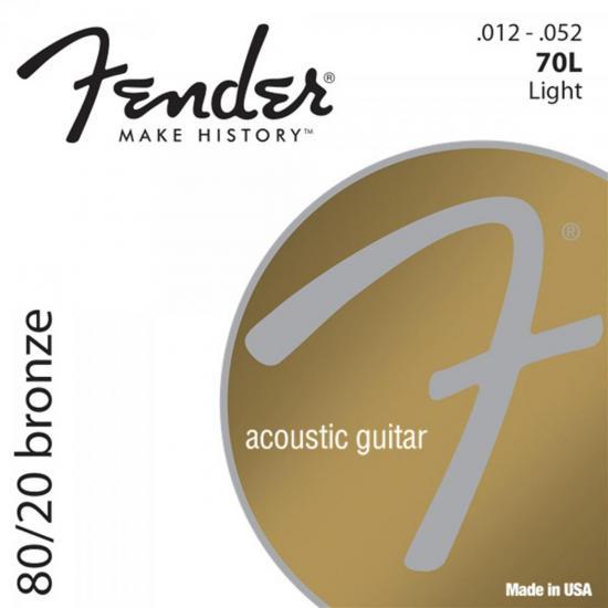 Encordoamento para Violão Aço .012 70L Bronze FENDER