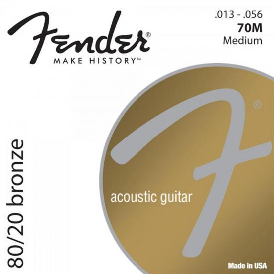 Encordoamento para Violão Aço 0.013 70M Bronze FENDER