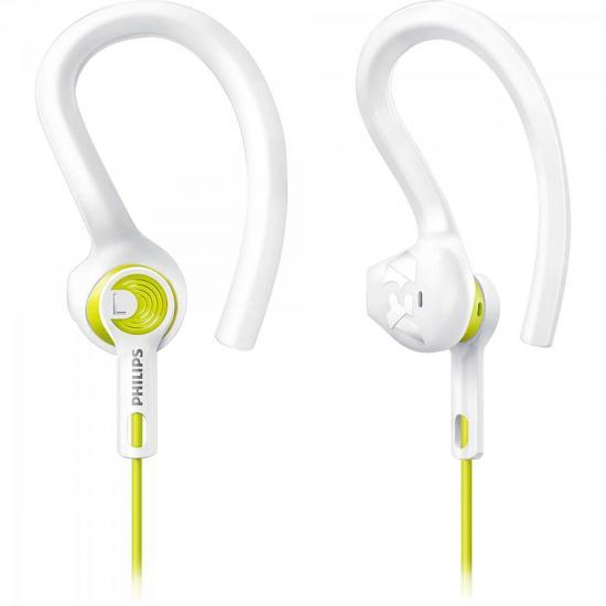 Fone de Ouvido Esportivo 3 em 1 SHQ1400LF/00 Branco/Amarelo PHILIPS