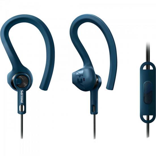 Fone de Ouvido Esportivo 3 em 1 com Microfone SHQ1405BL/00 Azul PHILIPS