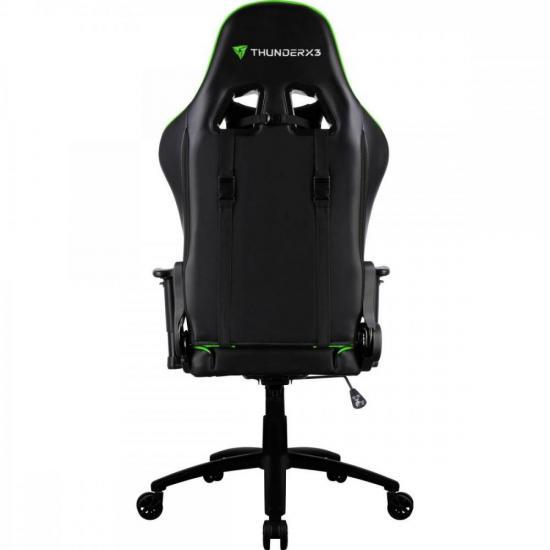Cadeira Gamer Profissional TGC12 Preta/Verde THUNDERX3