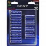 Pilha Alcalina 10 AA + 10 AAA Stamina Plus ALMX-B20D Sony Caixa c/480 pilhas (cartela c/20)