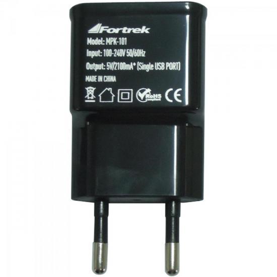 Kit Carregadores de Energia USB 12V/Bivolt MPK-101 Preto FORTREK