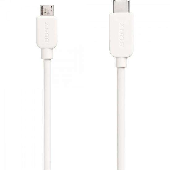 Cabo de Transferência e Carregamento USB Tipo C Micro USB CP-CB100 1m Branco SONY